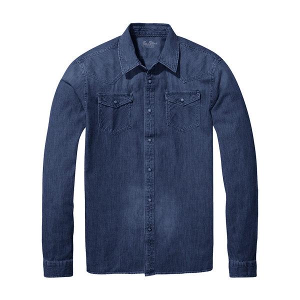 più foto 7eb3b e5527 Camicia Texana Blu - Ten-Fifteen