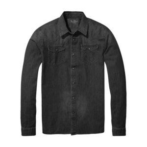 Ten-Fifteen-2019-camicia-texana-nero